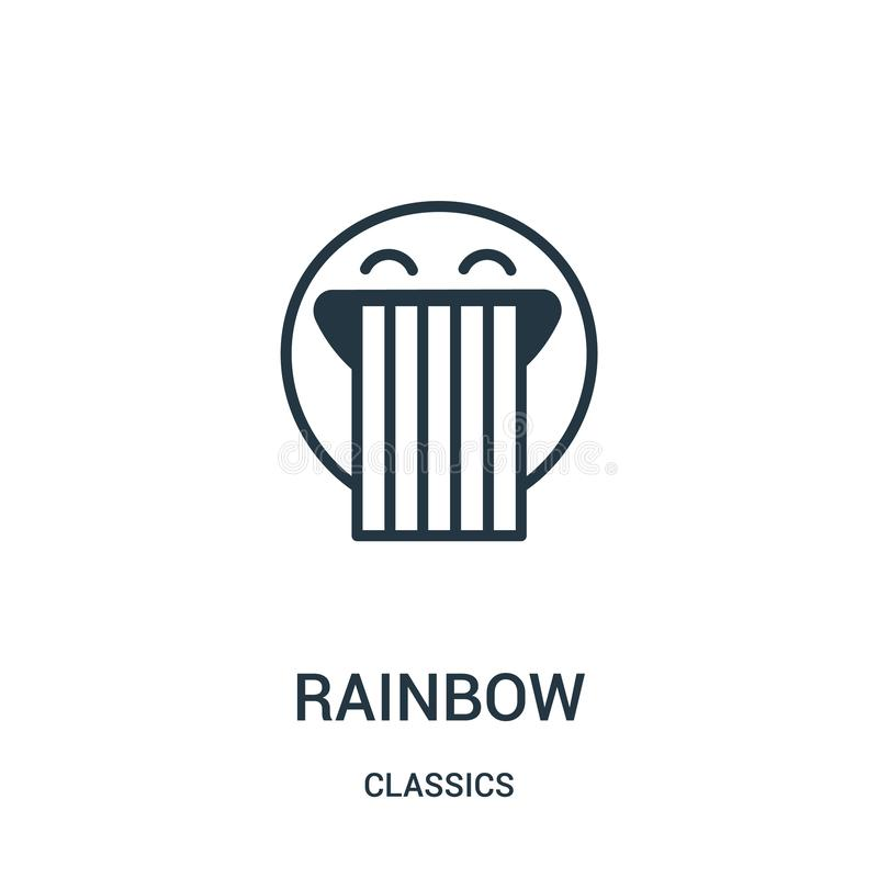 vettore dell'icona dell'arcobaleno dalla raccolta dei classici Linea sottile illustrazione di vettore dell'icona del profilo dell illustrazione di stock