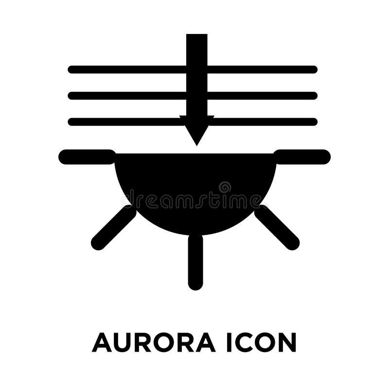 Vettore dell'icona dell'aurora isolato su fondo bianco, concetto di logo di illustrazione di stock