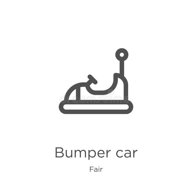vettore dell'icona dell'automobile di paraurti dalla raccolta giusta Linea sottile illustrazione di vettore dell'icona del profil royalty illustrazione gratis