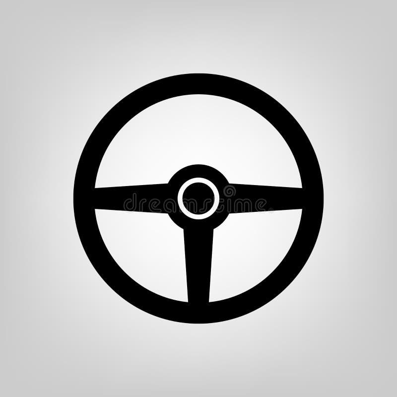Vettore dell'icona dell'azionamento della ruota di Streering Per la vostra progettazione del sito Web, logo, app, UI Illustrazion royalty illustrazione gratis