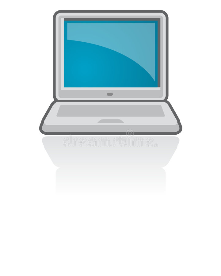 Vettore dell'icona computer portatile/del taccuino   immagini stock