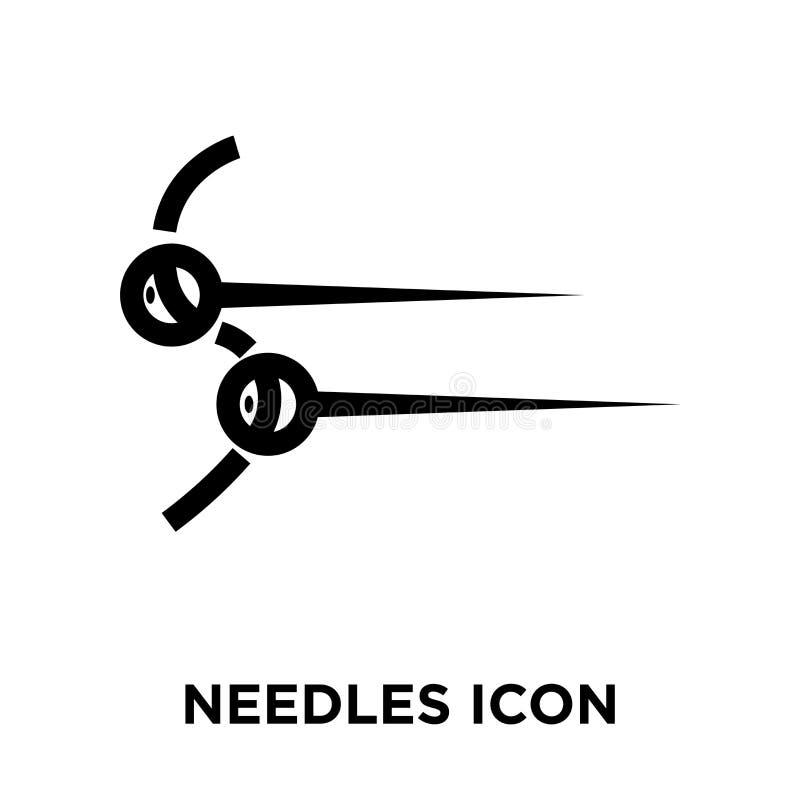 Vettore dell'icona degli aghi isolato su fondo bianco, concetto o di logo royalty illustrazione gratis