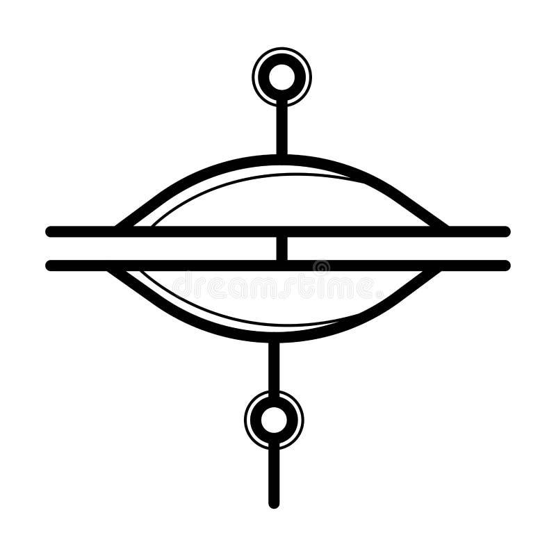 Vettore dell'icona dei piatti illustrazione vettoriale