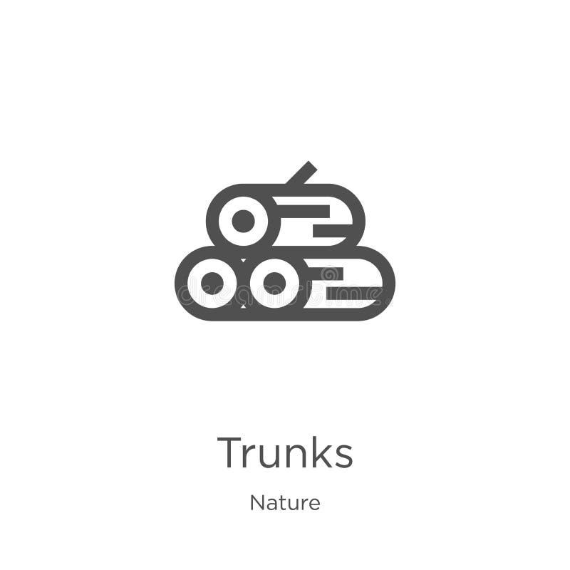 vettore dell'icona dei tronchi dalla raccolta della natura Linea sottile illustrazione di vettore dell'icona del profilo dei tron royalty illustrazione gratis