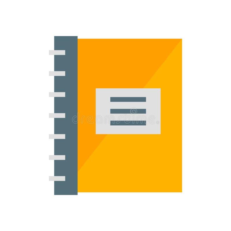 Vettore dell'icona del blocco note isolato su fondo bianco, segno del blocco note, simboli di industria illustrazione vettoriale