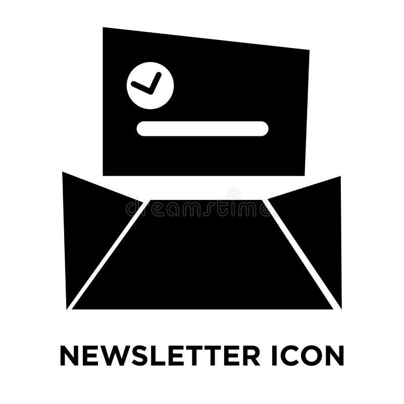 Vettore dell'icona del bollettino isolato su fondo bianco, concep di logo illustrazione di stock