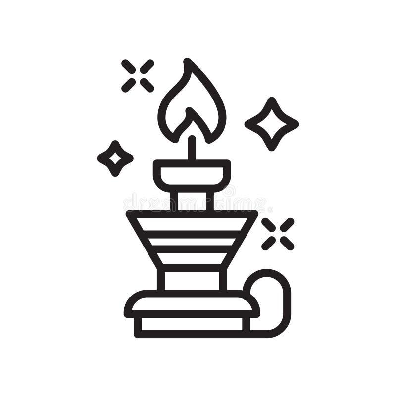Vettore dell'icona del bruciatore isolato su fondo bianco, segno del bruciatore, l illustrazione vettoriale