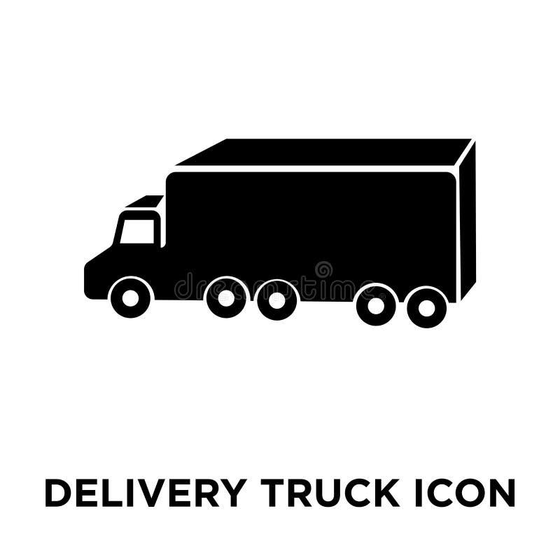 Vettore dell'icona del camion di consegna isolato su fondo bianco, logo co illustrazione vettoriale