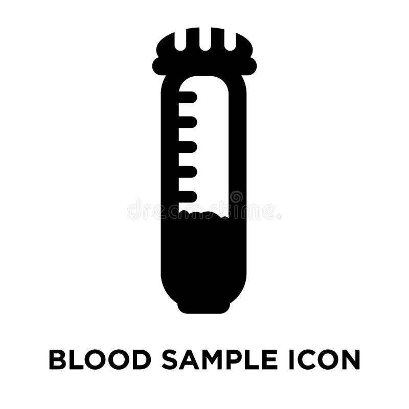 Vettore dell'icona del campione di sangue isolato su fondo bianco, logo concentrato illustrazione vettoriale