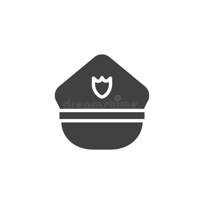 Vettore dell'icona del cappello della polizia illustrazione di stock