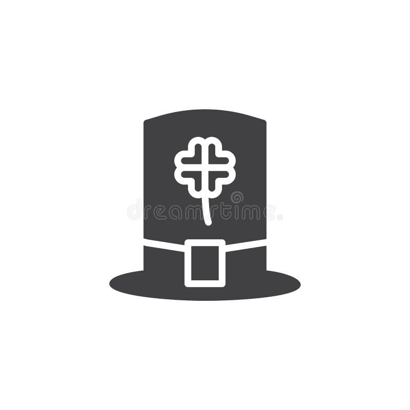 Vettore dell'icona del cappello del leprechaun illustrazione di stock