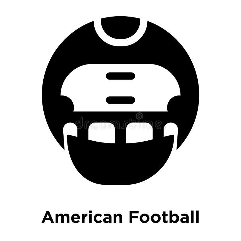 Vettore dell'icona del casco di football americano isolato su backgroun bianco illustrazione vettoriale