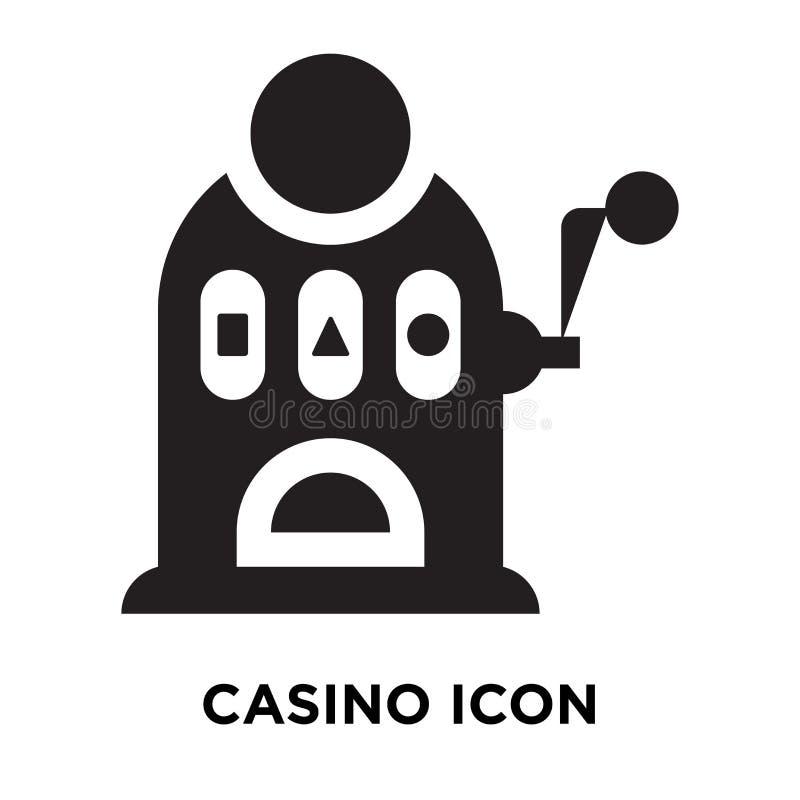 Vettore dell'icona del casinò isolato su fondo bianco, concetto di logo di illustrazione di stock