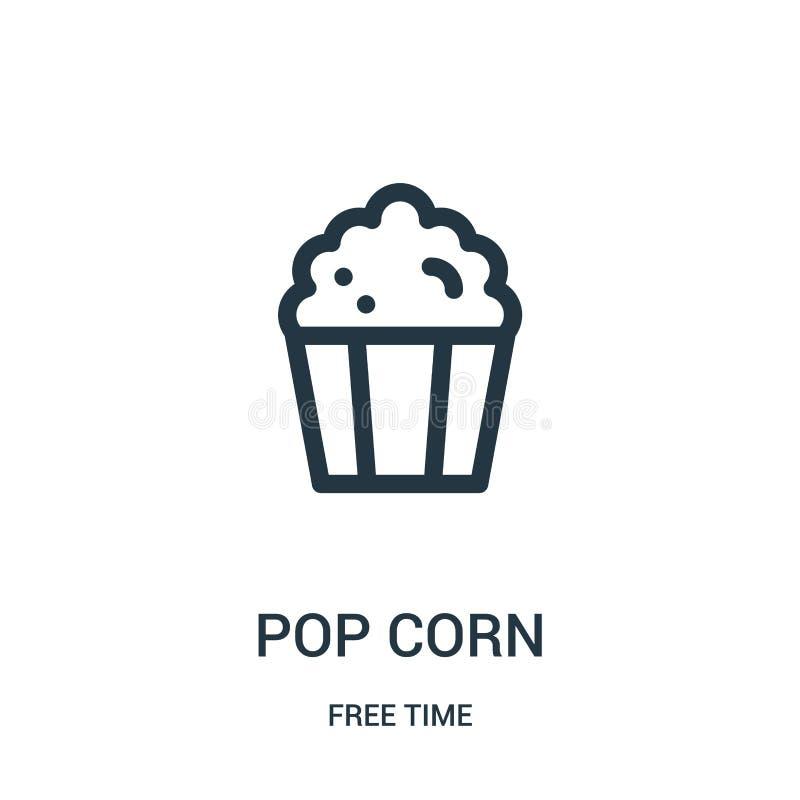 vettore dell'icona del cereale di schiocco dalla raccolta di tempo libero Linea sottile illustrazione di vettore dell'icona del p illustrazione vettoriale