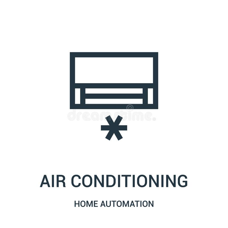 vettore dell'icona del condizionamento d'aria dalla raccolta di automazione della casa Linea sottile illustrazione di vettore del illustrazione vettoriale