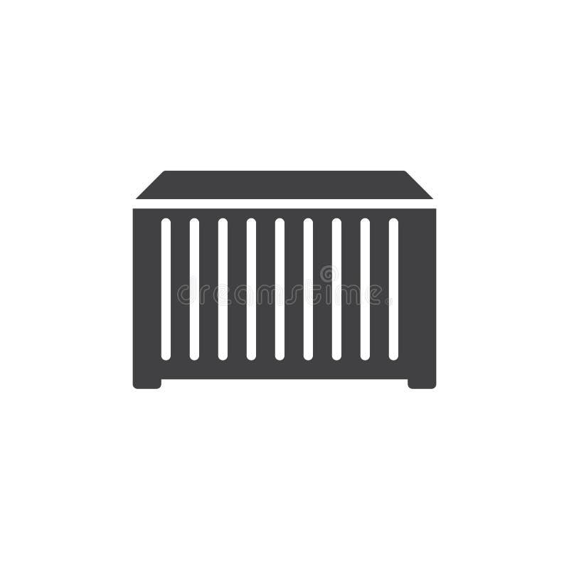 Vettore dell'icona del contenitore illustrazione di stock