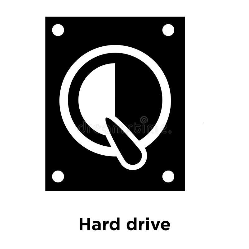 Vettore dell'icona del disco rigido isolato su fondo bianco, concep di logo illustrazione vettoriale