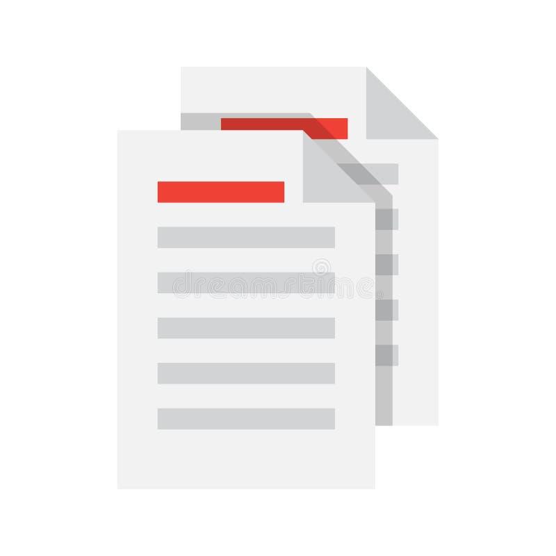Vettore dell'icona del documento royalty illustrazione gratis