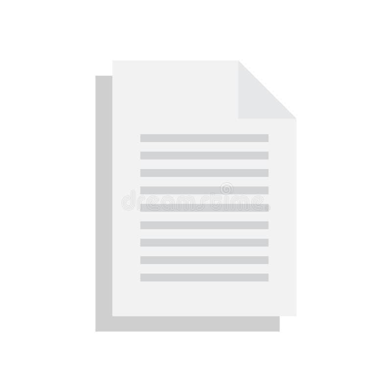 Vettore dell'icona del documento illustrazione di stock