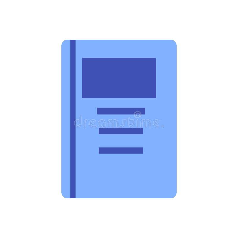 Vettore dell'icona del dossier isolato su fondo bianco, segno del dossier, simboli variopinti dell'attrezzatura illustrazione di stock