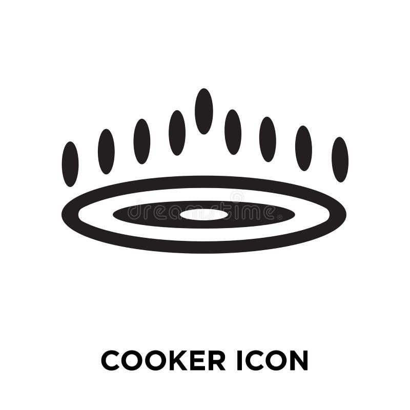 Vettore dell'icona del fornello isolato su fondo bianco, concetto di logo di illustrazione vettoriale