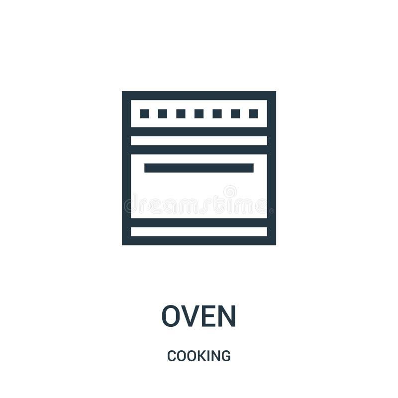 vettore dell'icona del forno dalla cottura della raccolta Linea sottile illustrazione di vettore dell'icona del profilo del forno royalty illustrazione gratis
