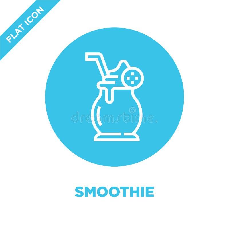 vettore dell'icona del frullato dalla raccolta della bevanda Linea sottile illustrazione di vettore dell'icona del profilo del fr illustrazione vettoriale
