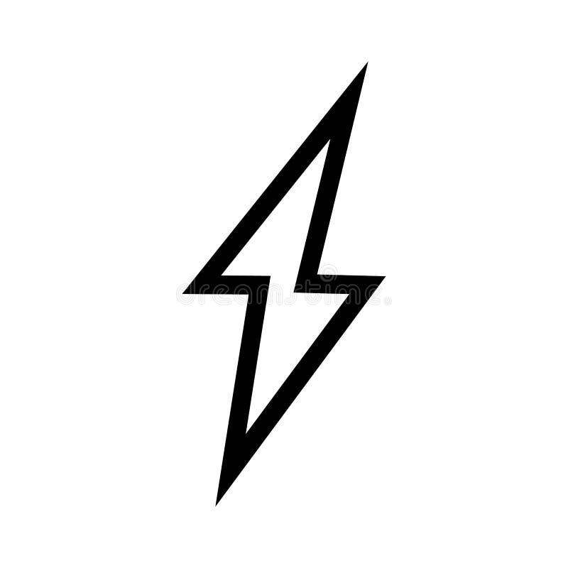 Vettore dell'icona del fulmine Simbolo piano semplice Illustrazione perfetta del pittogramma del profilo royalty illustrazione gratis