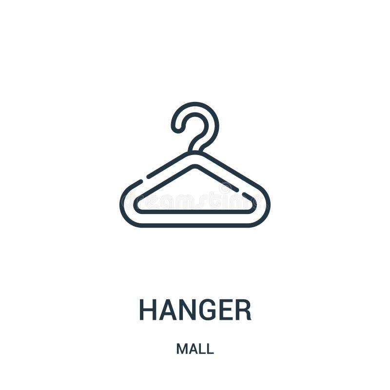 vettore dell'icona del gancio dalla raccolta del centro commerciale Linea sottile illustrazione di vettore dell'icona del profilo illustrazione di stock