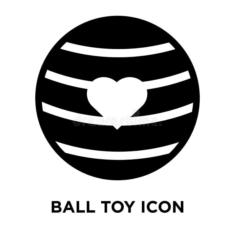 Vettore dell'icona del giocattolo della palla isolato su fondo bianco, concetto di logo royalty illustrazione gratis