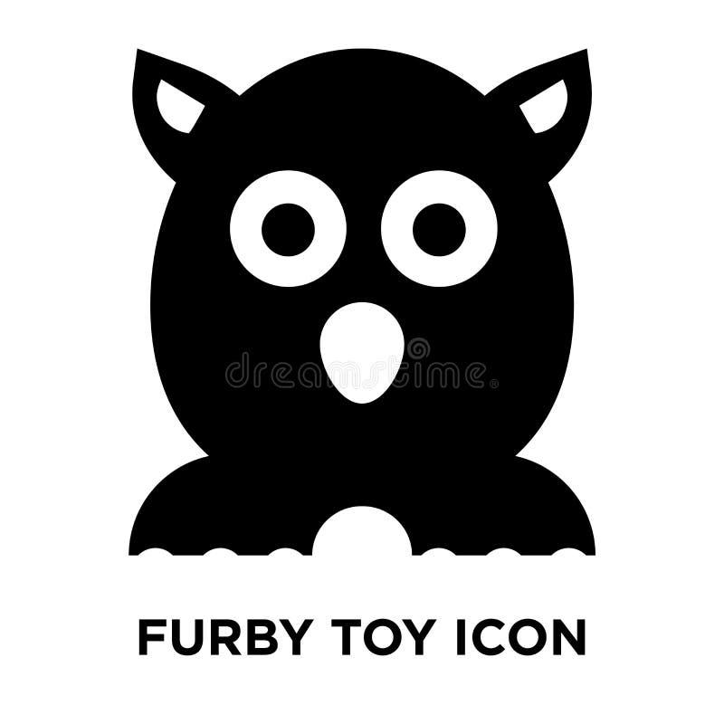 Vettore dell'icona del giocattolo di Furby isolato su fondo bianco, concetto di logo royalty illustrazione gratis