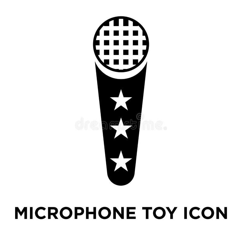 Vettore dell'icona del giocattolo del microfono isolato su fondo bianco, logo co royalty illustrazione gratis