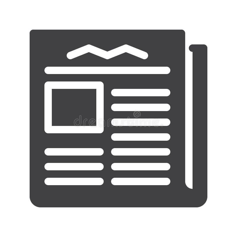 Vettore dell'icona del giornale illustrazione di stock