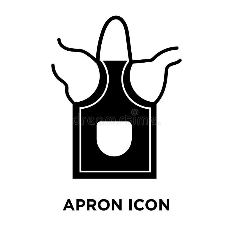 Vettore dell'icona del grembiule isolato su fondo bianco, concetto di logo di royalty illustrazione gratis