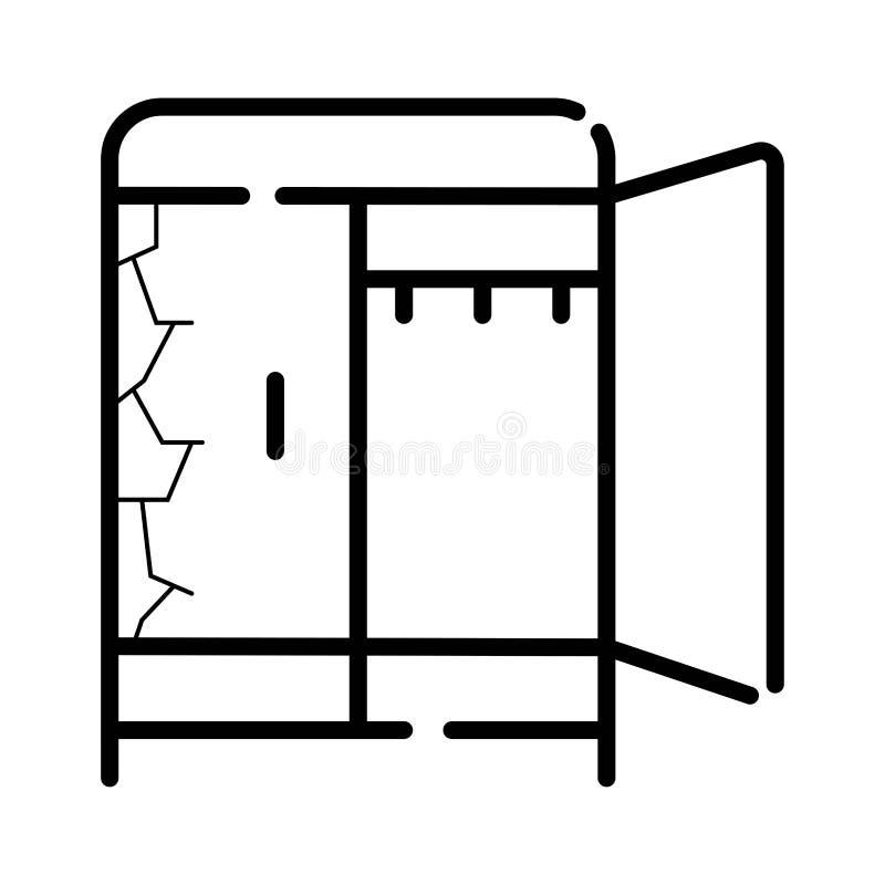 Vettore dell'icona del guardaroba illustrazione vettoriale
