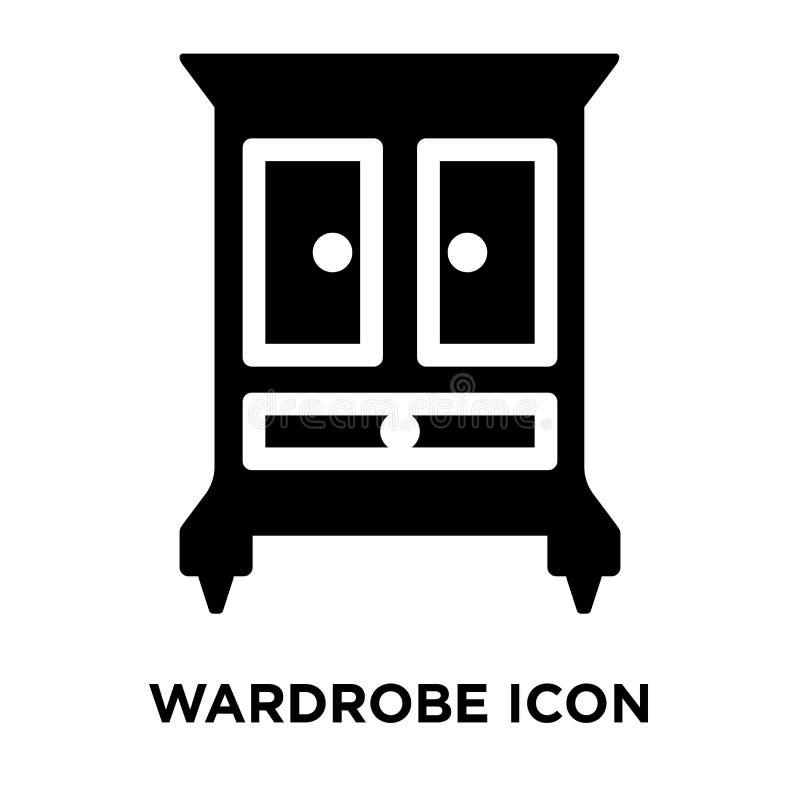 Vettore dell'icona del guardaroba isolato su fondo bianco, concetto di logo illustrazione vettoriale
