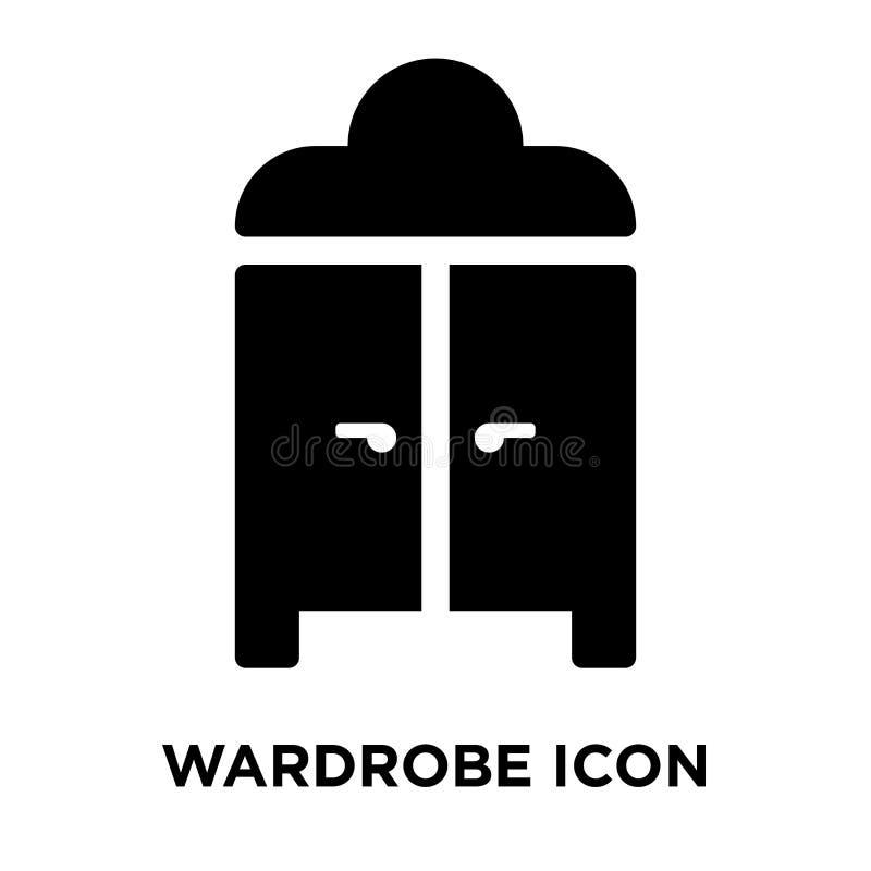 Vettore dell'icona del guardaroba isolato su fondo bianco, concetto di logo illustrazione di stock