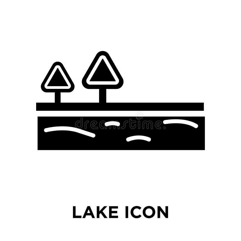 Vettore dell'icona del lago isolato su fondo bianco, concetto di logo della L illustrazione di stock