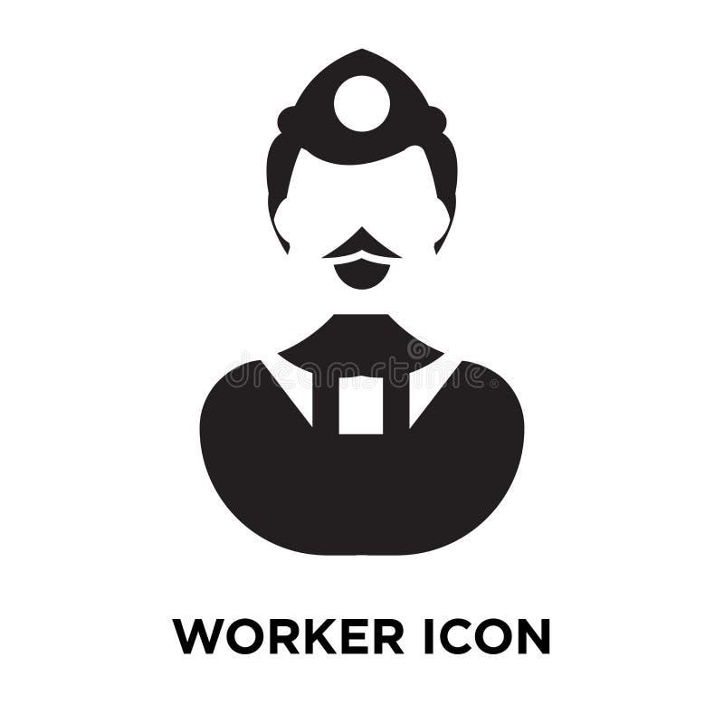 Vettore dell'icona del lavoratore isolato su fondo bianco, concetto di logo di illustrazione vettoriale