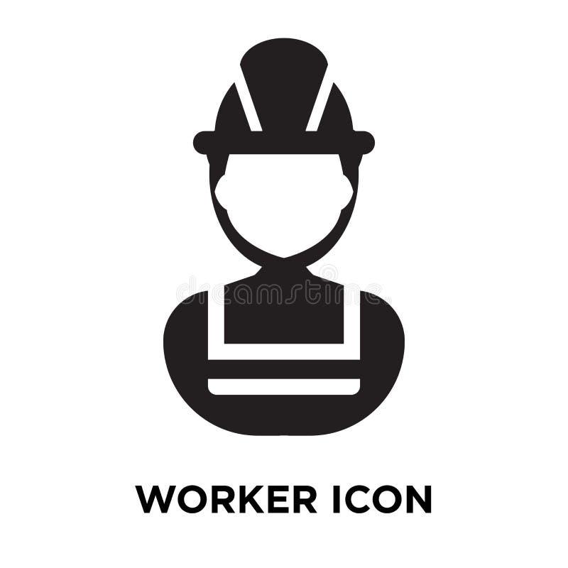 Vettore dell'icona del lavoratore isolato su fondo bianco, concetto di logo di royalty illustrazione gratis