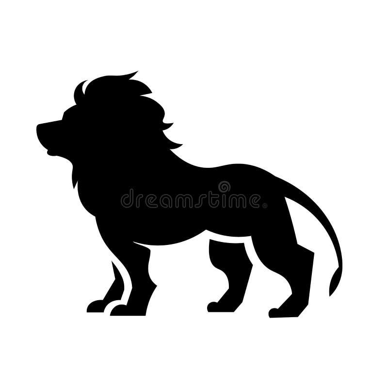 Vettore dell'icona del leone illustrazione di stock