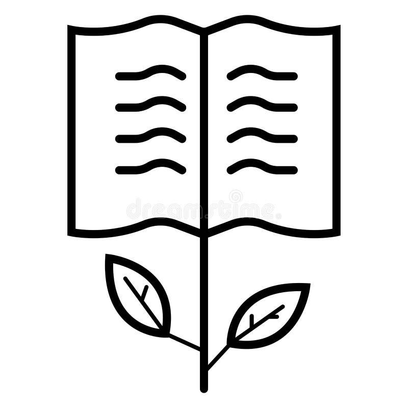 Vettore dell'icona del libro della pianta illustrazione di stock