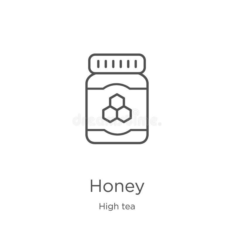 vettore dell'icona del miele dalla raccolta dell'alto tè Linea sottile illustrazione di vettore dell'icona del profilo del miele  illustrazione di stock