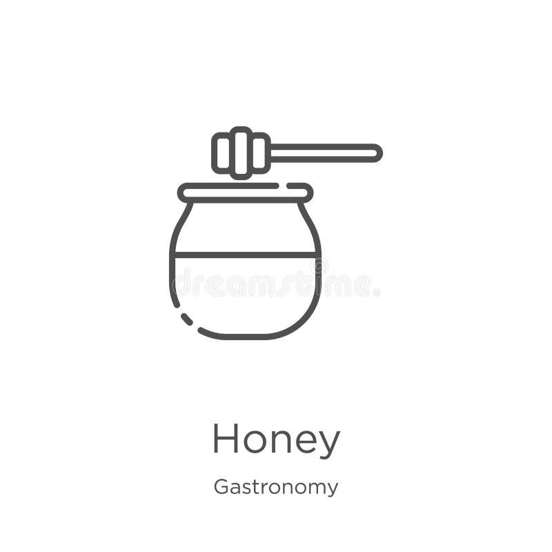 vettore dell'icona del miele dalla raccolta della gastronomie Linea sottile illustrazione di vettore dell'icona del profilo del m illustrazione vettoriale