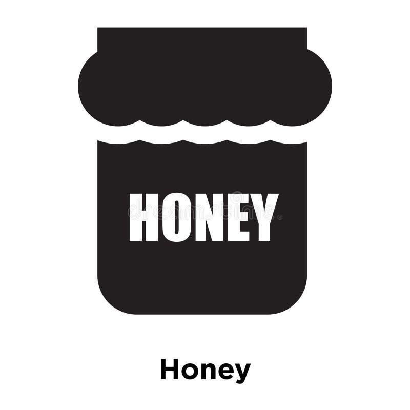 Vettore dell'icona del miele isolato su fondo bianco, concetto di logo di illustrazione vettoriale