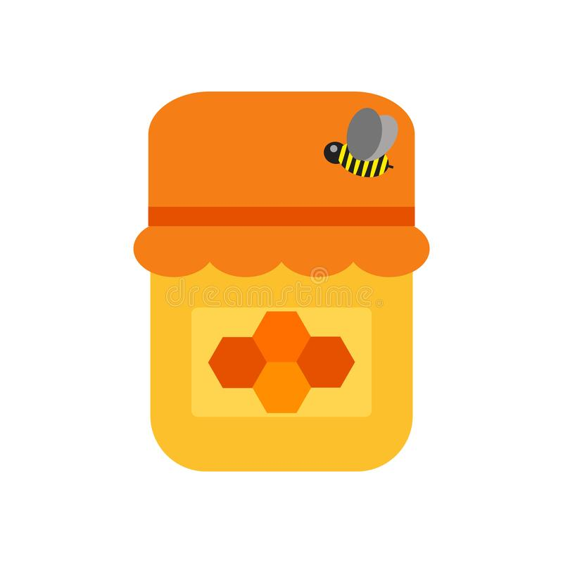 Vettore dell'icona del miele isolato su fondo bianco, segno del miele illustrazione vettoriale