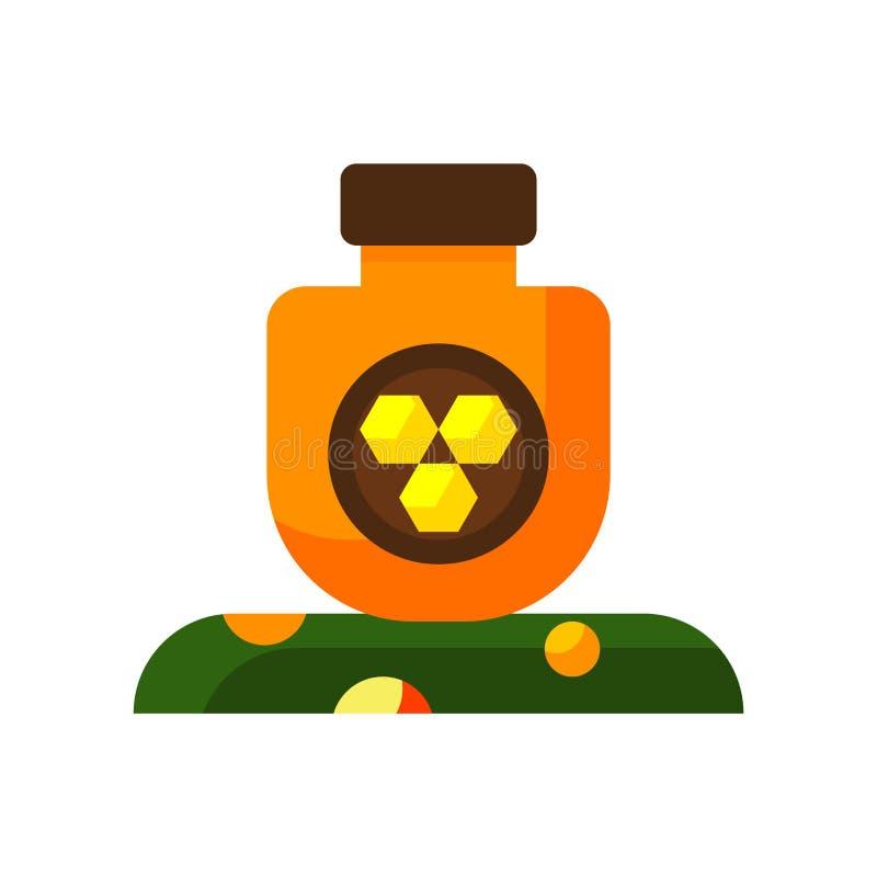 Vettore dell'icona del miele isolato su fondo bianco, segno del miele, passo royalty illustrazione gratis