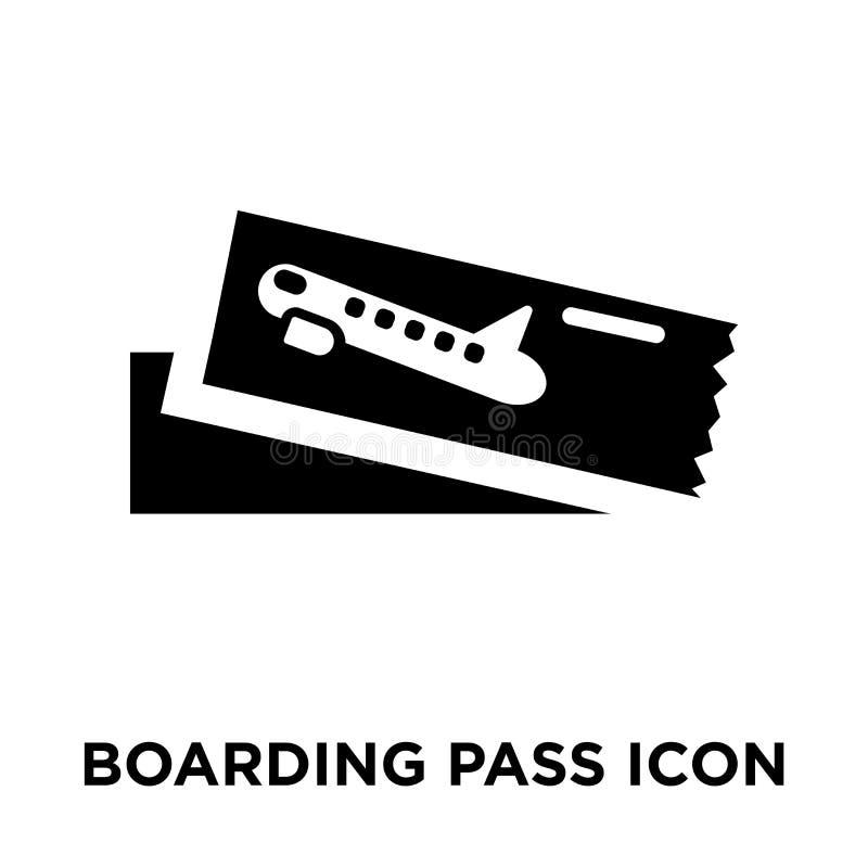 Vettore dell'icona del passaggio di imbarco isolato su fondo bianco, raggiro di logo illustrazione vettoriale