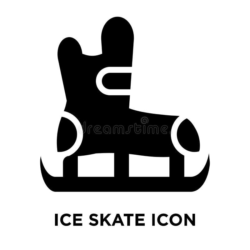 Vettore dell'icona del pattino da ghiaccio isolato su fondo bianco, concetto di logo illustrazione di stock