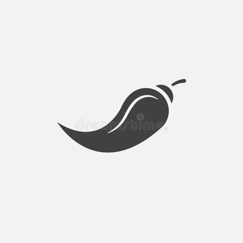 Vettore dell'icona del peperoncino isolato su bianco illustrazione di stock